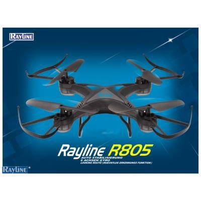 rayline drone radiocommandé r805 black-edition 2,4ghz avec caméra hd - hélicoptère radio commandé
