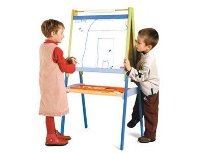 JEUJURA - Grand tableau dessin xxl en bois avec accessoires - Tableau et pupitre enfant