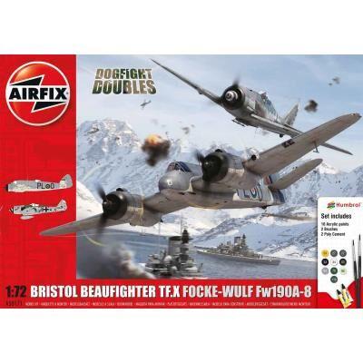 Airfix Maquettes avions : Bristol Beaufighter TF.X et Focke-Wulf Fw190A-8 Airfix - Maquette