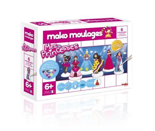 MAKO Moulages Mes Princesses Mako 6 Moules - Poterie