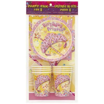 Uunique Pack Princess gouter 8 enfants - Décoration - Article de fête