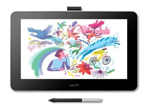 wacom tablette graphique wacom one 13.3 avec stylet noir et blanc - tablette graphique avec stylet
