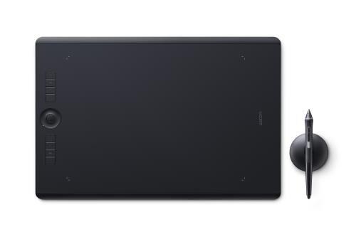 wcom tablette graphique wacom intuos pro taille m - tablette graphique avec écran