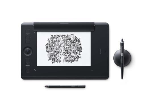 wcom tablette graphique wacom intuos pro edition papier taille m - tablette graphique avec écran