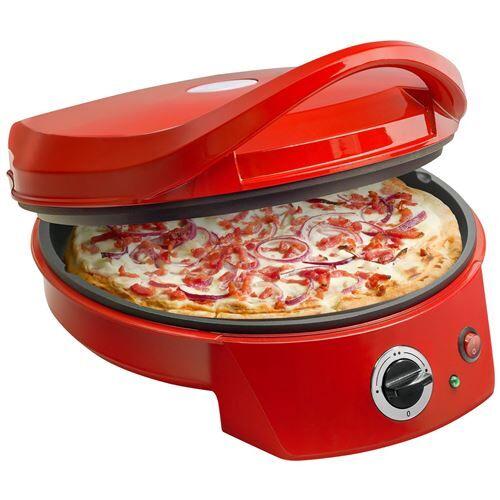 BESTRON APZ400 Four a pizza - Diametre : 27 cm - Rouge - Cuisson conviviale