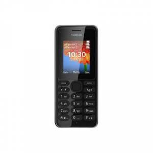 Microsoft Nokia 108 Dual SIM - Téléphone mobile - double SIM - microSDHC slot - GSM - 160 x 128 pixels - TFT - RAM 4 Mo - 0,3 MP - noir - Smartphone