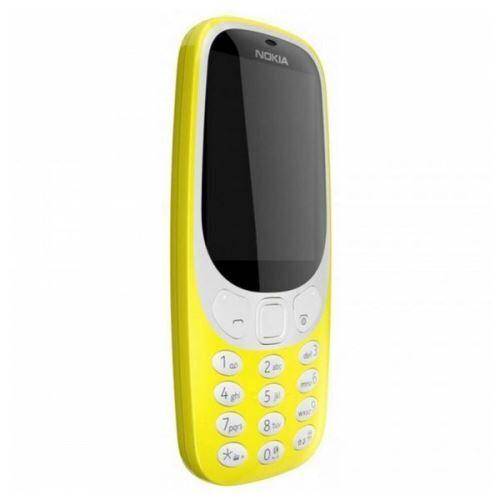 Nokia Téléphone portable Nokia 3310 2,4 TFT Radio FM Bluetooth 1200 mAh Jaune - Téléphone portable basique