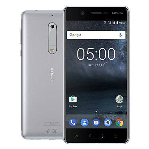 Nokia 5 Double Sim 4g 16go Argent - Smartphones (13,2 Cm (5.2), 1280 X 720 Pixels, Plat, Ips, Plusieurs Pressions, 500 Cd/m²) - Smartphone