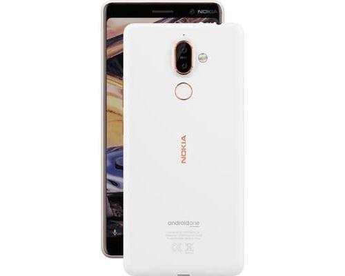 Nokia 7 plus, 15,2 cm (6), 64 Go, 12 MP, Android, 8.0 (Oreo), Cuivre, Blanc - Smartphone