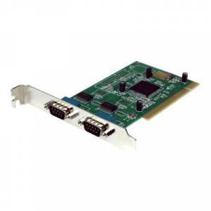 StarTech.com Carte PCI avec 2 Série DB-9 RS232 - Adaptateur Série - UART 16950 - adaptateur série - 2 ports - Switch réseau
