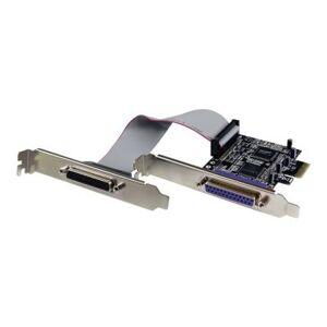 StarTech.com Carte PCI Express 2 ports parallèles DB25 - Carte contrôleur PCI-E 2 ports IEEE 1284 Low Profile - adaptateur parallèle - Switch réseau