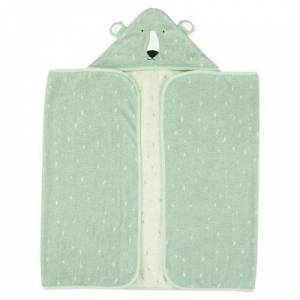 Trixie serviette de bain Mr. Polar Bear70 x 130 cm coton bio vert - Gants - Sorties de bain - Serviettes
