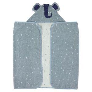 Trixie serviette de bain Mrs. Elephant70 x 130 cm coton bio bleu - Gants - Sorties de bain - Serviettes