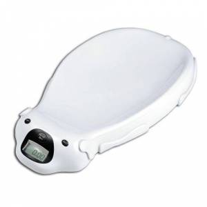 Todeco - Pèse Bébé, Balance Éléctrique pour Bébé, Blanc, Dimensions: 65,4 x 33,2 x 11,6 cm - Accessoires santé