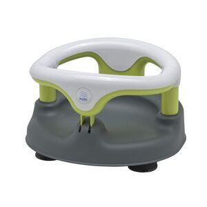 Rotho Babydesign Siège de Bain, Avec Anneau Rabattable et Sécurité Enfants, 7-16 mois, Jusqu'à max. 13kg, Sans BPA, 35x31,3x22cm, Gris/Blanc/Vert - Baignoires
