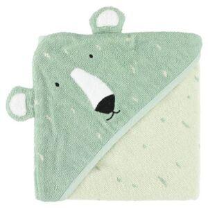 Trixie serviette de bain Mr. Polar Bear75 x 75 cm coton bio vert - Gants - Sorties de bain - Serviettes