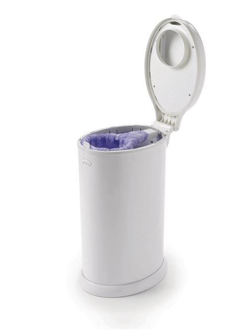 Ubbi Poubelle à couches - Blanc - Poubelle à couches