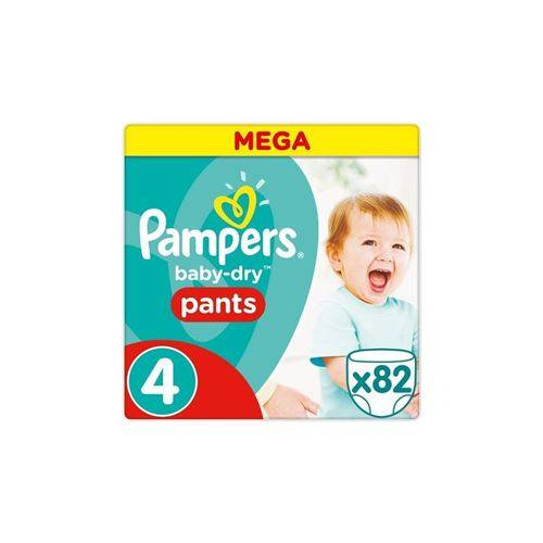 Pampers Baby Dry Pants Taille 4 - 9 A 15 Kg - 82 Couches-culottes - Mega Pack - Couche
