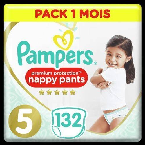 Pampers Active Fit Pants Taille 5, 132 Couches-culottes - Pack 1 Mois - Couche