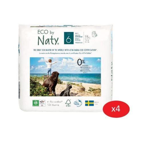 Non communiqué naty - lot de 4 paquets de culottes d'apprentissage taille 6 xl 12 kg 18 pcs - Couche