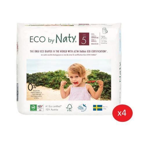 Non communiqué naty - lot de 4 paquets de culottes d'apprentissage taille 5 junior 12-18 kg 20 pcs - Autres toilette et soin
