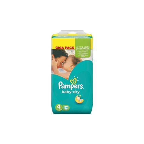 Pampers Baby Dry Couches Bebe Taille 4 - 9 A 14 Kg - 120 Couches - Couche