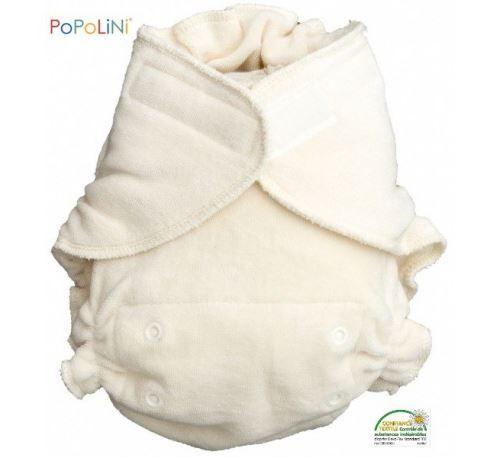 POPOLINI - Couche lavable UltraFit en coton bio (3-15kg) - Accessoires de change