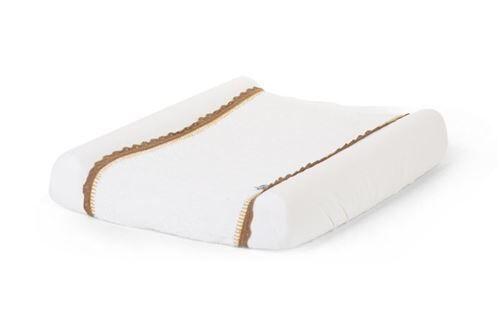 Non communiqué Childhome housse de matelas à langer Crochet 70 x 50 cm blanc/marron - Matelas à langer