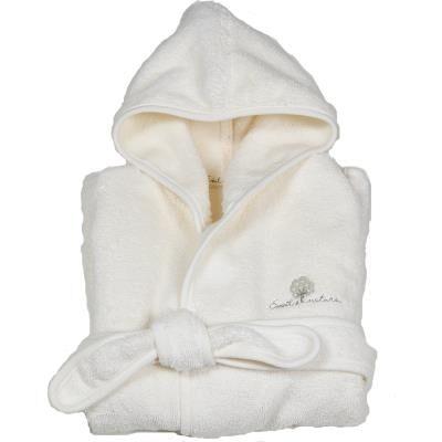 Eveil et Nature Peignoir bébé en coton bio écru 12-24 mois - Gants - Sorties de bain - Serviettes