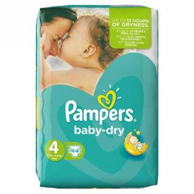 PAMPERS Baby Dry Taille 4 (Maxi) 7 a 18 kg couches - Accessoires de change