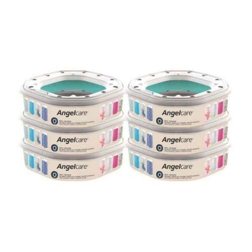 ANGELCARE Pack de 6 recharges octogonales pour poubelle à couche Angelcare Dress Up - Poubelle à couches