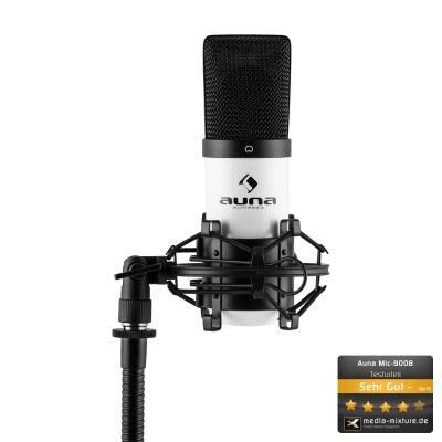 auna mic-900wh microphone à condensateur usb studio -blanc - microphone