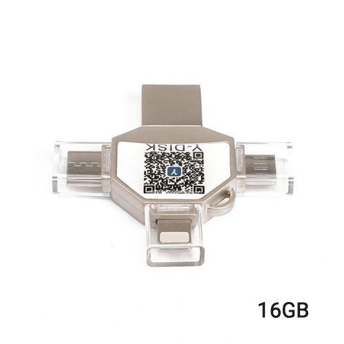 Non communiqué USB Flash Conduire 4 en 1 Type-C / Lightning / Micro USB / USB 2.0 pour iPhone iPad Mini Mémoire Bâton 16 Go 32 Go 64 Go 128 Go Stylo Conduire U Disque - Clé USB