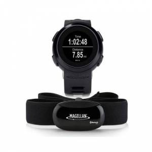 Magellan Montre Connectée Multisports + Sangle Bluetooth de fréquence cardiaque MAGELLAN ECHO - GPS Auto