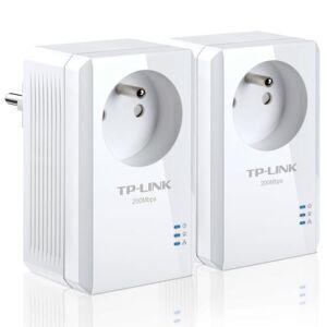 TPLN Pack de 2 Mini Adaptateurs CPL TP-LINK 200MBPS avec prise intégrée - CPL