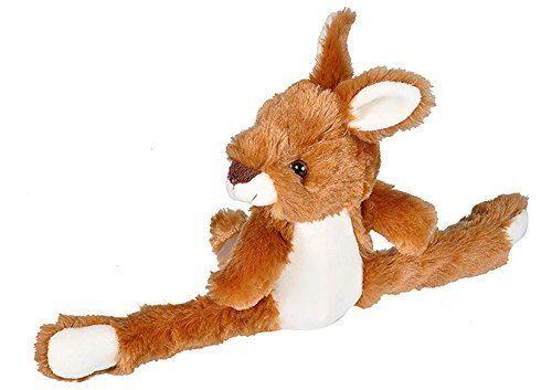 Wild Republic Peluche Kangourou Wild Republic Huggers, Bracelet Slap, Animal en Peluche, Jouets pour Enfants, 8 Pouces - Animal en peluche