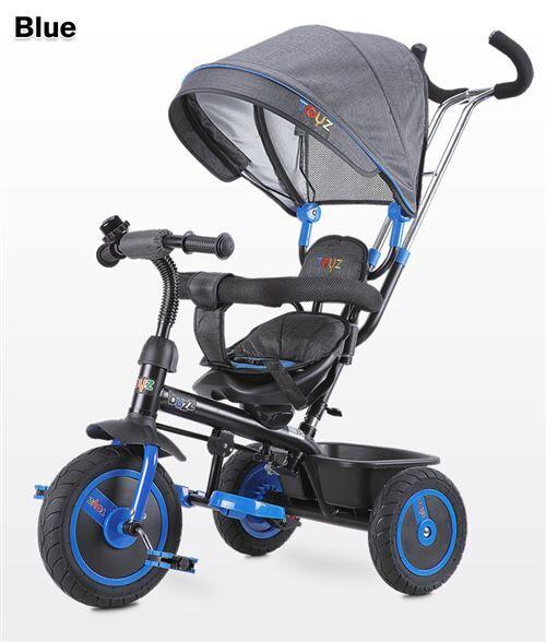Tricycle évolutif avec repose-pieds auvent pliable barre à pousser enfant 3-5ans BUZZ - Tricycles