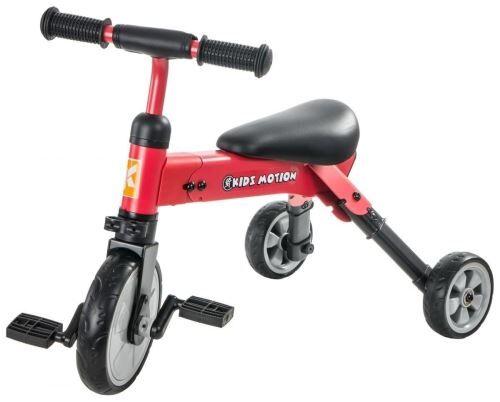 Non communiqué Kidz Motion Tricycle Tobi Multifonctions pour Enfants de + 18 mois, en Acier & Plastique Pliable avec Pédales pliables / Rouge - Tricycles