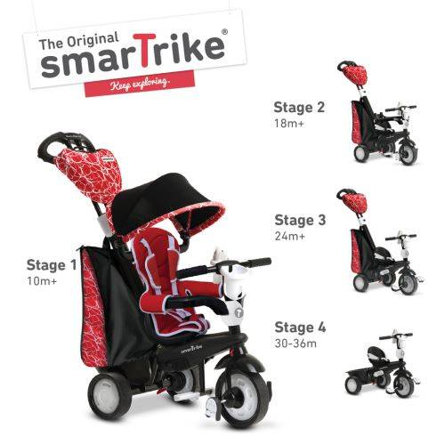 Smartrike Smart Trike smarTrike 4 en 1 Chic rouge tricycle pour les tout-petits - Tricycles