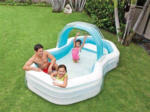 intex piscine gonflable octo + ombrelle amovible - jeu / piscine gonflable