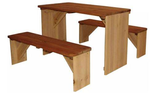 AXI table de pique-nique ZidZed XXL 45 x 80 x 70 cm lumineux - Autre jeu de plein air