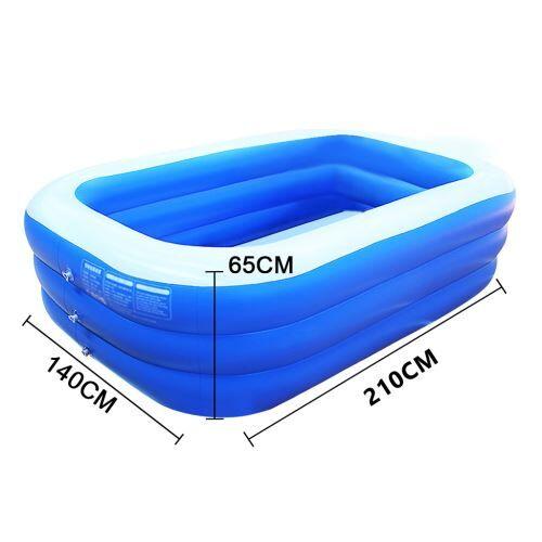Piscine épaissie gonflable pour enfants de ménage 210 cm - Bleu - Jeu / Piscine gonflable