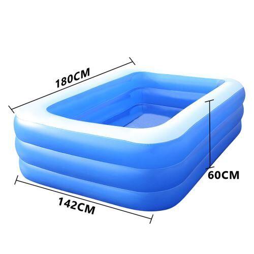 Piscine épaissie gonflable pour enfants de ménage 180 cm - Bleu - Jeu / Piscine gonflable