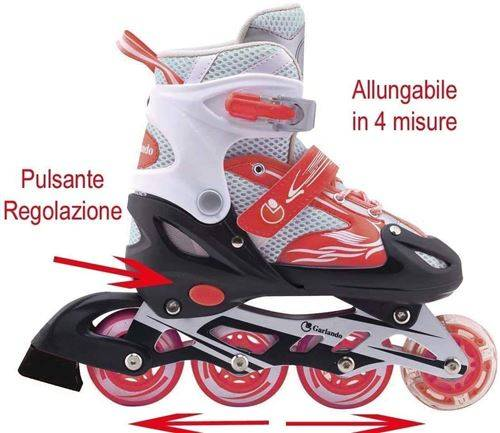 Pas de marque Garlando FIREWHEEL Rouge (M) NEXTREME Rollers, GRG-027, Taille M - Patinettes/Rollers