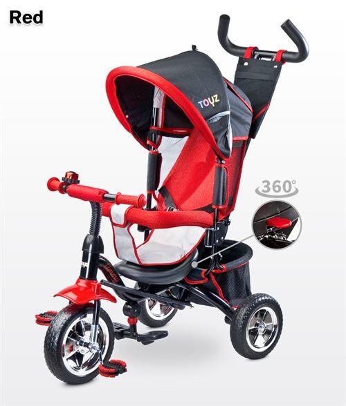 Tricycle évolutif avec repose-pieds auvent pliable barre à pousser enfant 3-5ans TIMMY - Tricycles