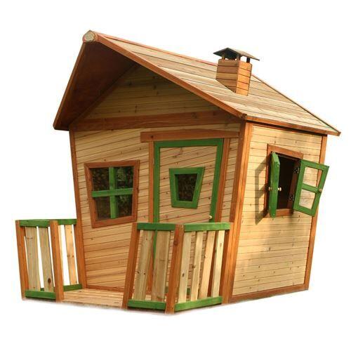 Axi Cabane enfant JESSE en cèdre vernis naturel - Maison de jardin - Maisons de jardin