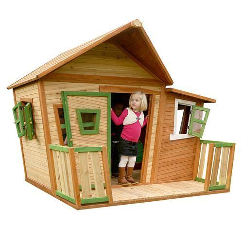 Axi Cabane enfant LISA en cèdre vernis naturel - Maison de jardin - Maisons de jardin