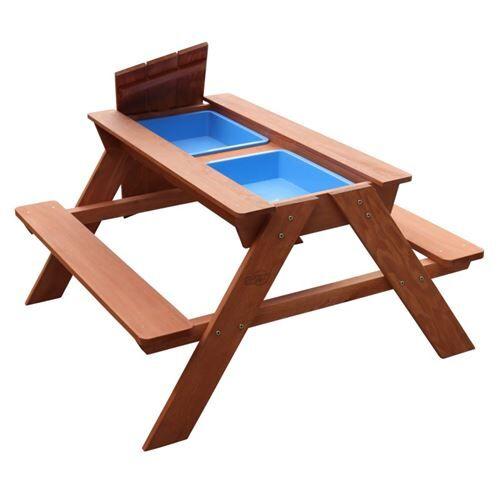 Non communiqué Table de pique-nique Dave Bac à Sable et Eau Marron - Bac à sable