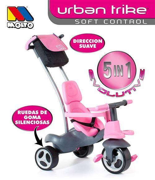 Molto Tricycle Urban trike Easy Control, couleur ROSE (17201) - Autre jeu de plein air