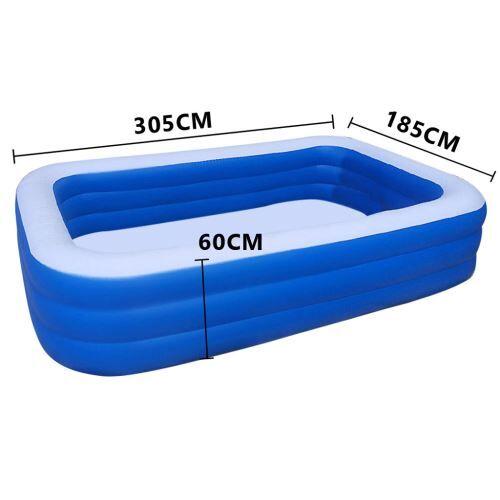 Piscine épaissie gonflable pour enfants de ménage 308 cm - Bleu - Jeu / Piscine gonflable